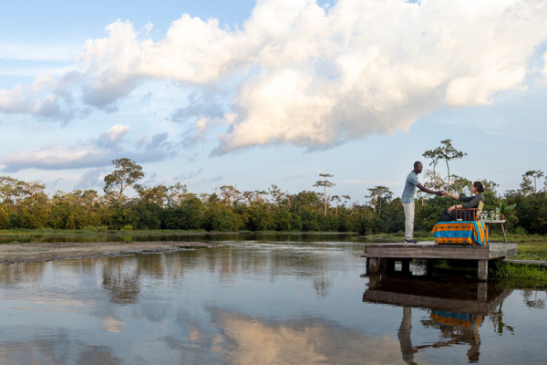 congo-conservation-company-lango-camp-drinks-on-deck