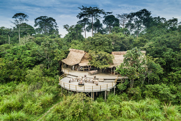 congo-conservation-company-lango-camp-main-area-aerial